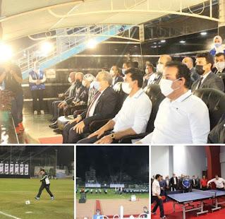 """""""عبدالغفار"""" يشهد انطلاق دوري الوزارات ويشارك في مباراة استعراضية"""