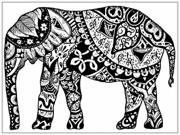 African Coloring Pages With  Adultbcoloringbpagesbfreebafricanbelephantbrealisticcoloringpages