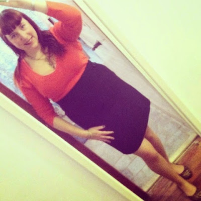 Everyday Plus Size Pinup Style Outfit for Work - Scoop Neck Shirt and Pencil Skirt