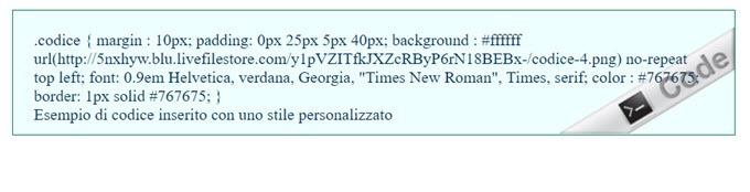 codice-personalizzato