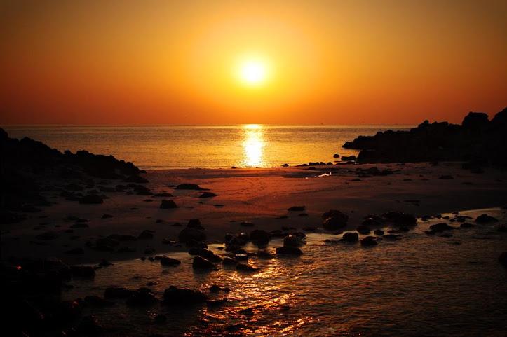 乙島の浜(おとしま)の朝日