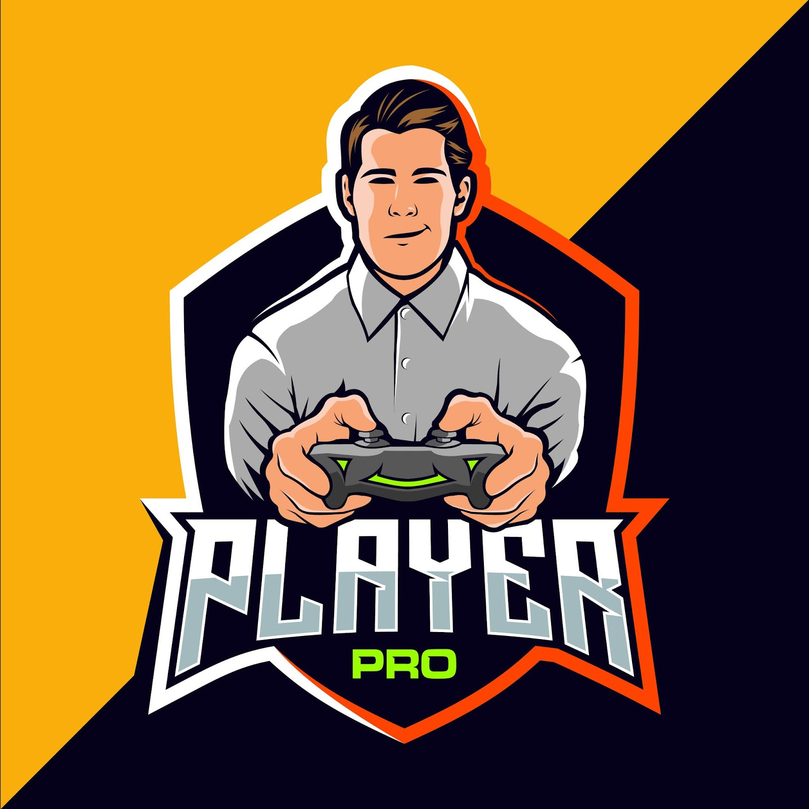 Pro Player Esport Game Cool Free Download Vector CDR, AI, EPS and PNG Formats