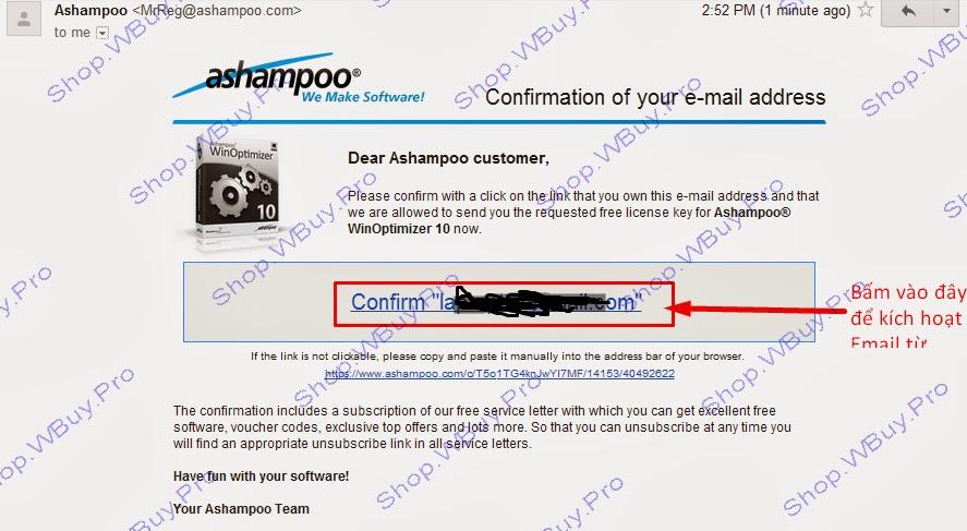 Miễn phí bản quyền Ashampoo WinOptimizer 10 - Shop