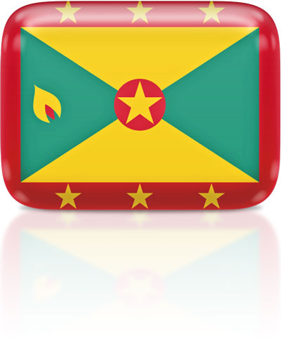 Grenadian flag clipart rectangular