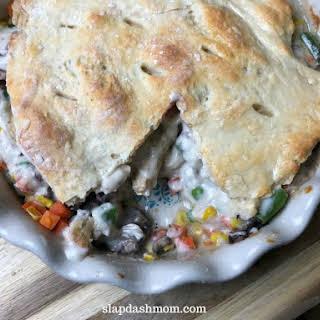 2 Ingredient Dough Pot Pie.