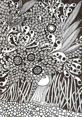 527 Zentangle Forest