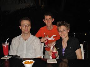 Lana, Bill, and I at the Raffles Hotel