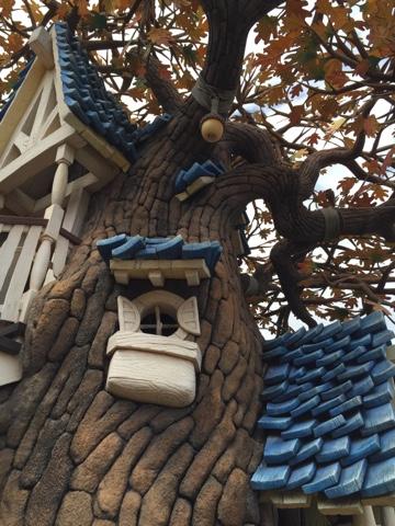 Chip n Dale's treehouse at Tokyo Disneyland