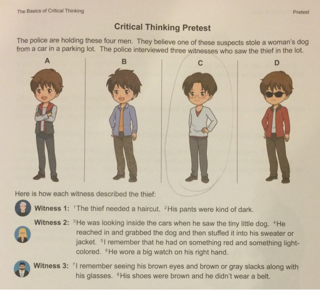 critical thinking in college students Hey there kickstart your thinking using the cutting-edge information assembled in this rapid read ebook the concepts and ideas presented are epic in their insight into the application of intellectual standards of critical thinking applied to.