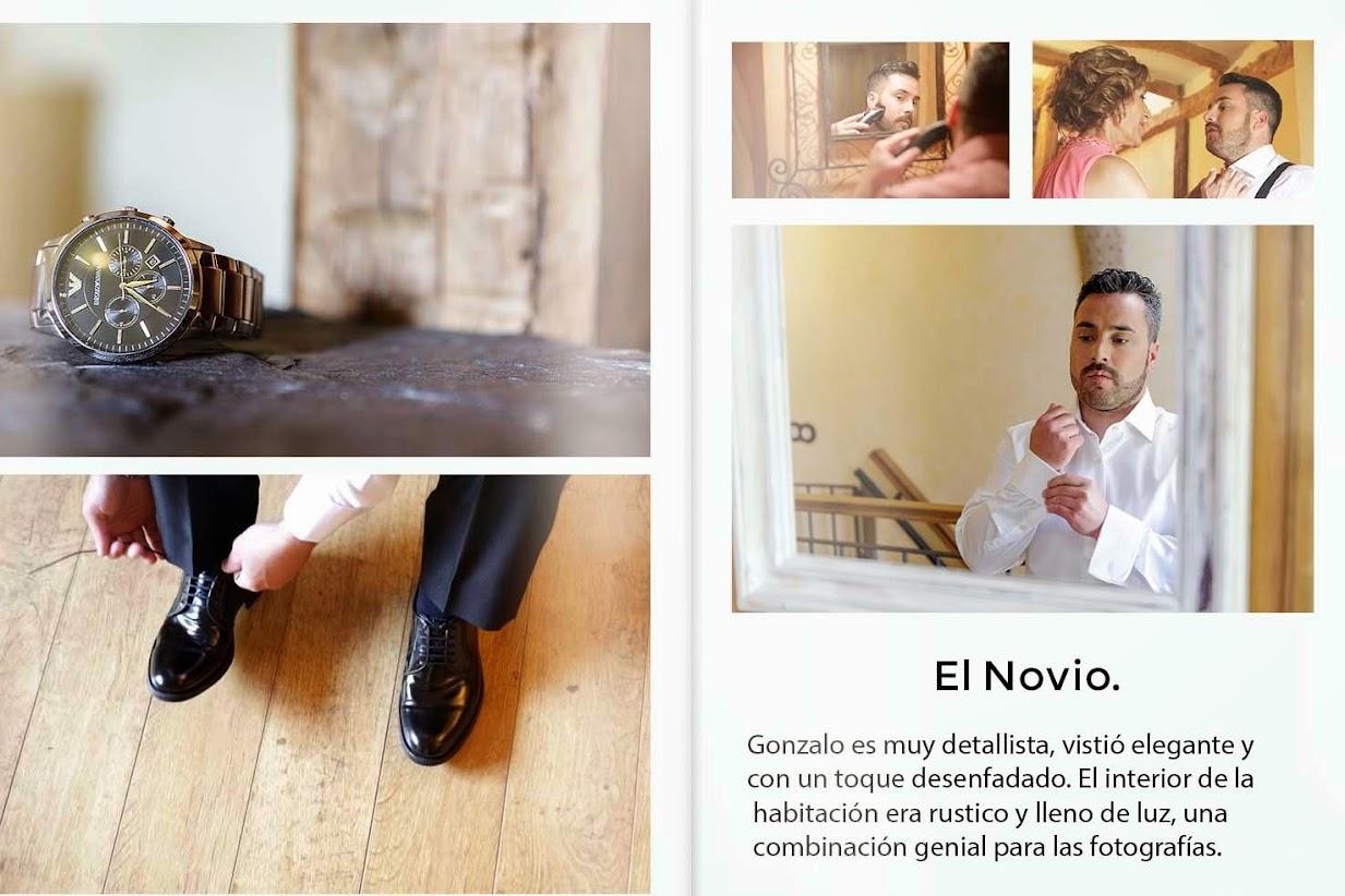 Reportaje fotográfico que realizaron los fotógrafos unos de boda afincados en Madrid.