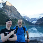 the man who rescued me from my struggles durig the climb in Lake Louise, Alberta, Canada
