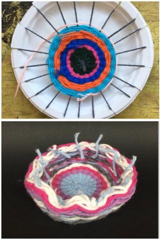 & Paper Plate Weaving-Make a Yarn Bowl!