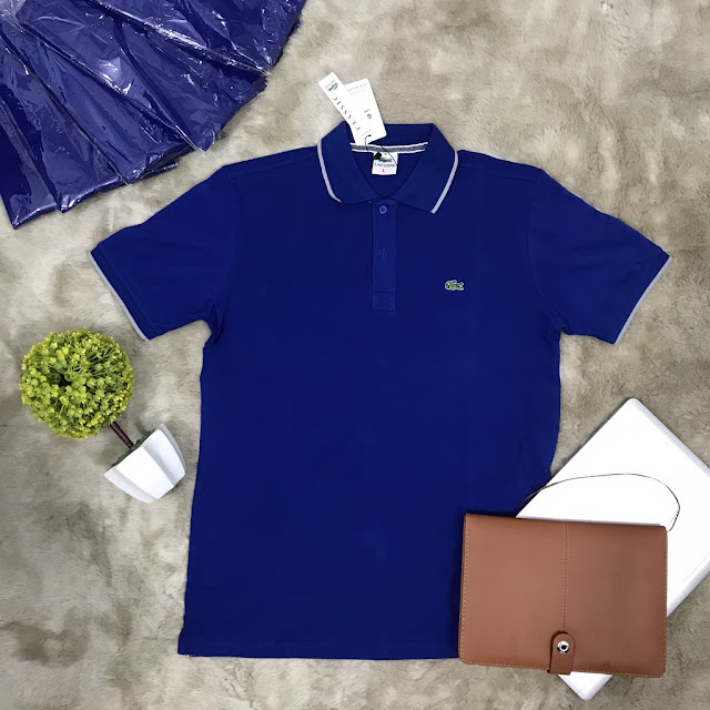 Áo thun xuất khẩu màu xanh dương đậm