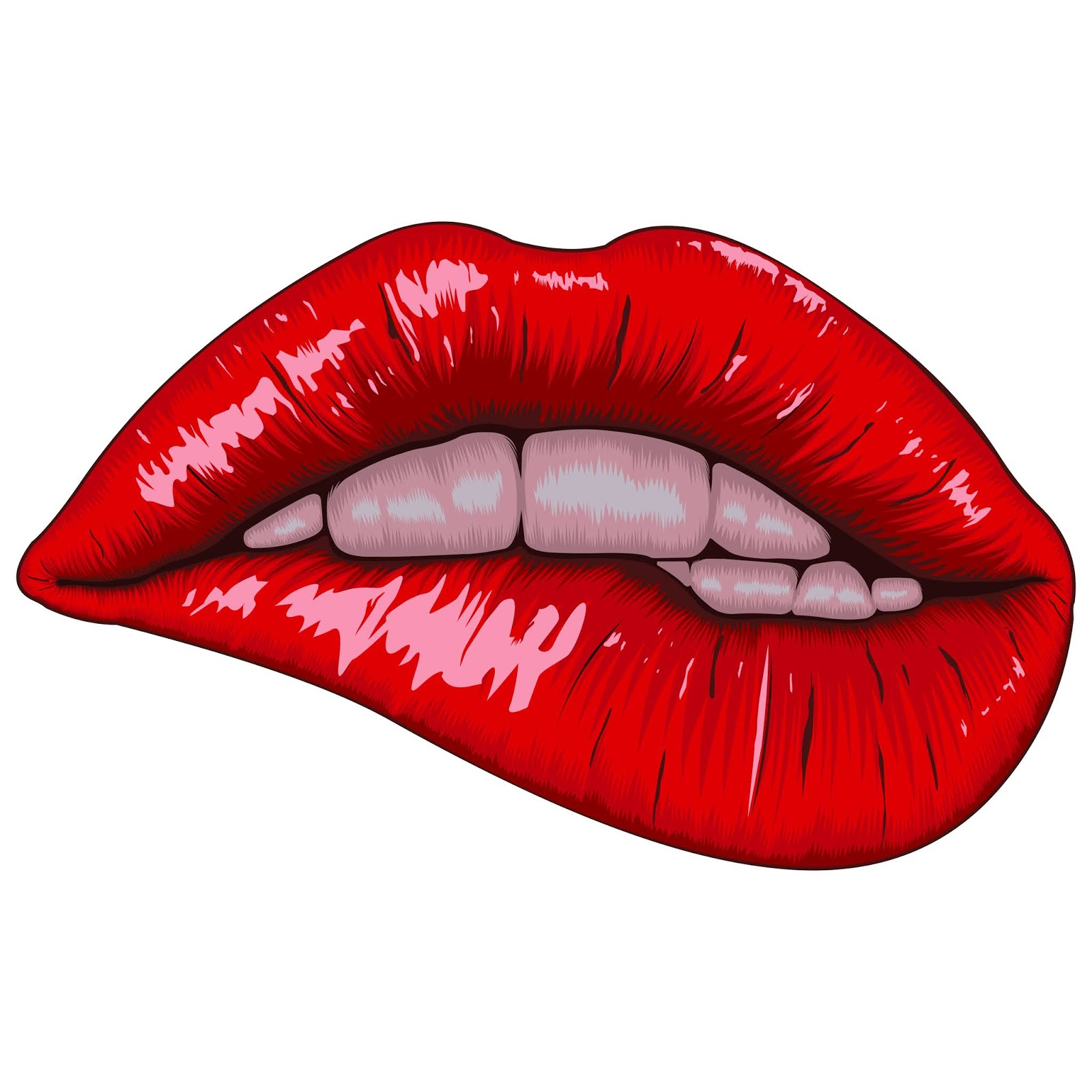 Realistic Lips Illustration Free Download Vector CDR, AI, EPS and PNG Formats