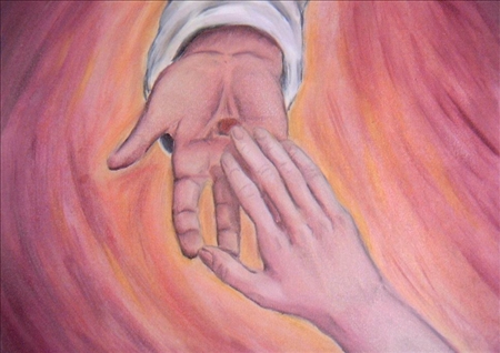 Naglu rētotās rokas