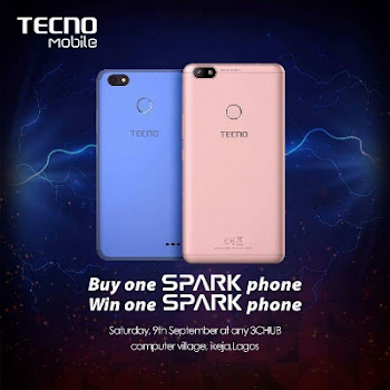 How To Win Free Tecno Sparks Smartphone