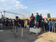 Když uprchlíci pěšky přejdou hranici mezi Řeckem a Makedonií, hledají spojení na sever země. Jezdí buď vlaky nebo úřady organizují autobusovou dopravu k hranicím Srbska. (Foto: Emanuela Macková, ČvT)