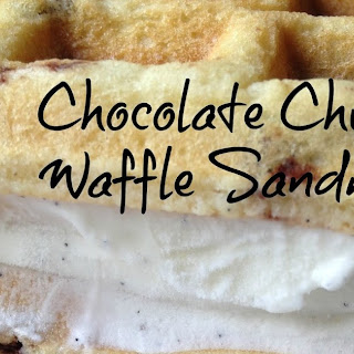 Chocolate Chip Buttermilk Waffle Ice Cream Sandwiches