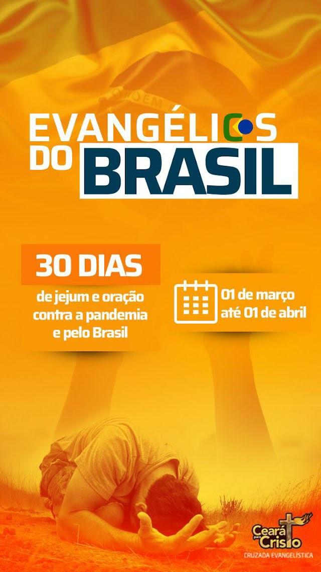Projeto Ceará para Cristo lança campanha de jejum e oração contra pandemia e a favor do Brasil