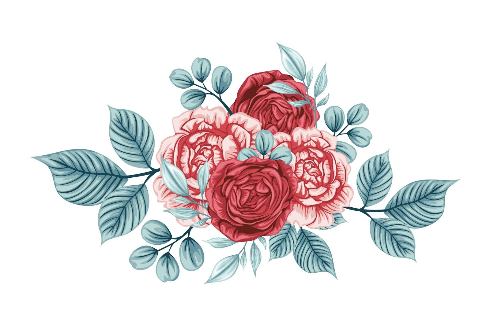 Beautiful Bouquet Rose Flowers Free Download Vector CDR, AI, EPS and PNG Formats