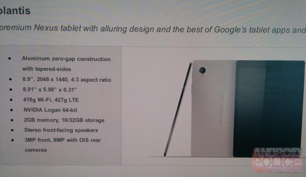 Nexus 8 HTC Volantis