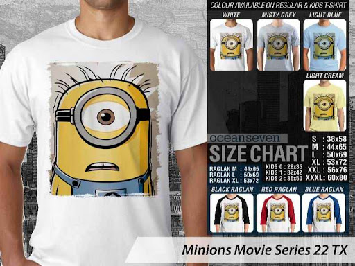 Kaos Kartun Minions Movie Series 22 distro ocean seven