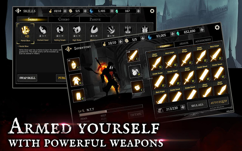 Shadow of Death: Dark Knight - Stickman Fighting Screenshot 5