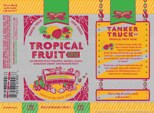 Two Roads Tropical Fruit Gose Coming To Tanker Truck Sour Series