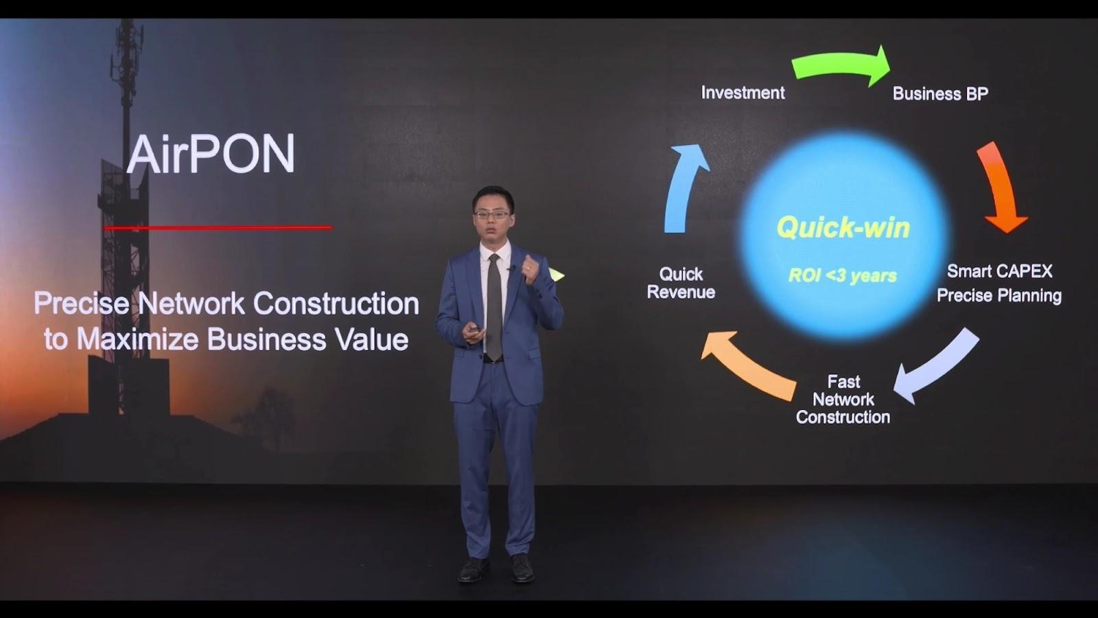 Huawei เปิดตัวโซลูชัน AirPON สำหรับการใช้งานเชิงพาณิชย์ส่งมอบการเข้าถึง Fixed-Mobile Convergence อย่างรวดเร็วและง่ายดาย