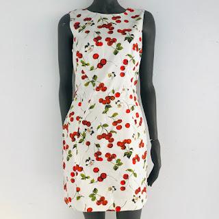 Dolce & Gabbana Graphic Cherry Dress