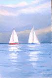 regaty o Puchar Poloneza III, olej, płótno, 20x30 cm