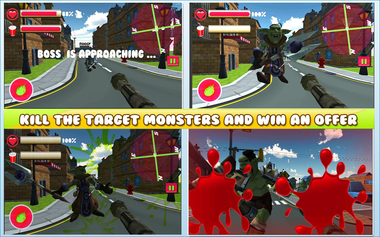 Fruit shooter games - Monsters Vs Fruit Shooter Screenshot