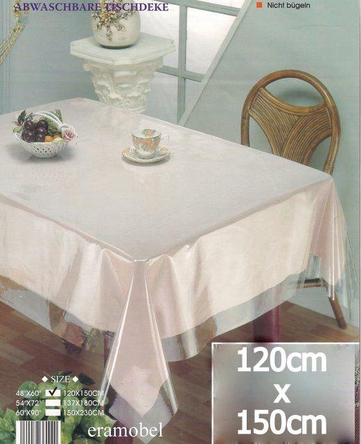 150cm x 230cm schutzfolie tischschutz tischdecke glasklar ebay. Black Bedroom Furniture Sets. Home Design Ideas