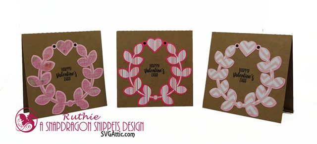 Happy Valentine'sDay, SnapDragon Snippets, Laurel wreath love you card, Ruthie Lopez 3