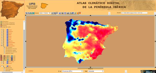 Atlas climático de la Península Ibérica