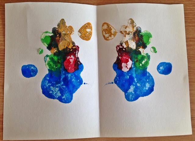 데칼코마니 대칭 그림 그리기