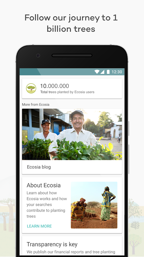 Ecosia Browser - Fast & Green- screenshot