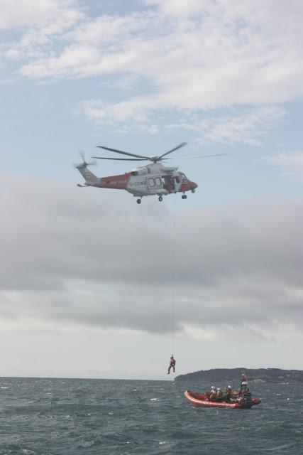 9 October 2011. Poole ILB and Portland Coastguard helicopter 106. Photo: Poole RNLI/Ade