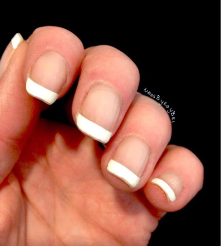 how to do a french manicure without guide strips