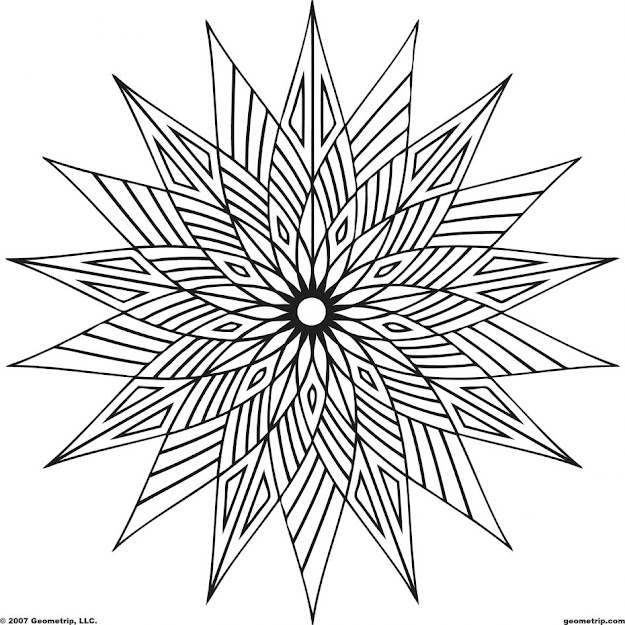 Download Coloring Pages Pattern Coloring Pages Coloring Pages Patterns  Free Geometric Pattern Coloring Page Cool
