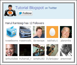 Twitter Fan Widget,Twitter Fan Box,widget twitter,twitter,widget blogger,widget fans,widget followers