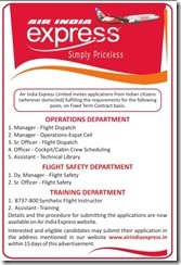 Air India Express Advertisement 2017 www.indgovtjobs.in