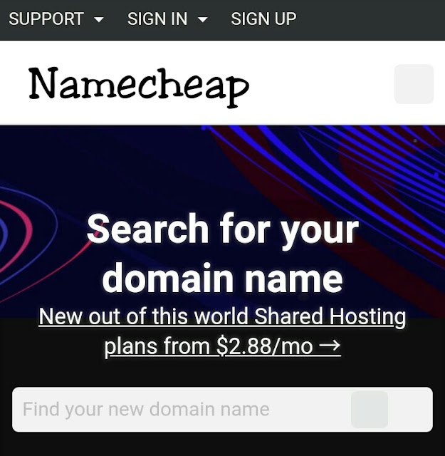 NameCheap domain booking