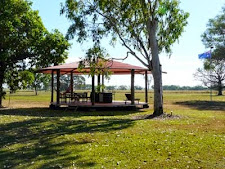 The gazebo is a nice place to read a book in the sun or enjoy a wine in the afternoon