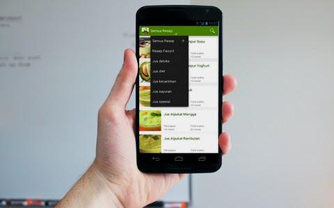 aplikasi resep jus sehat