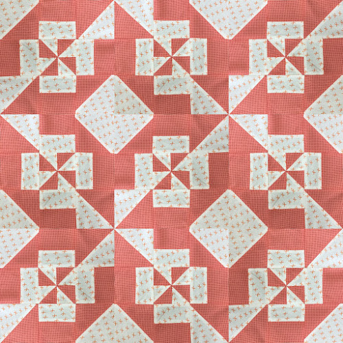 Block 9: Disappearing pinwheel quilt sampler