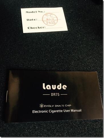 IMG 8468 thumb%255B1%255D - 【ついに我が家にもやってきた(๑•̀ㅂ•́)و✧】Laude(ラウド) DR75 75W【魅惑のDNA75】~結局…普通のテクニカルMODと何が違うのよ(´д`)?編~