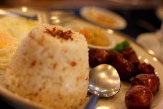 Longganisa with garlic rice
