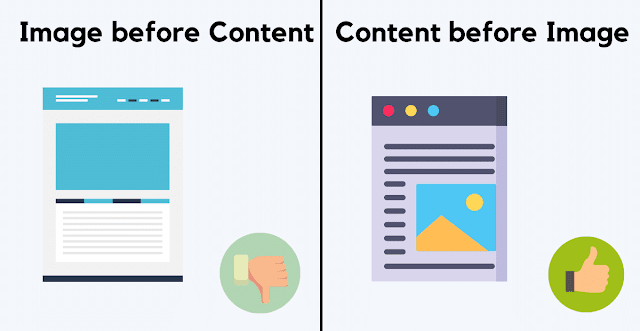 Avoid Image First & write Short Brief Content first