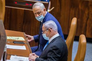 Netanyahu e Gantz devem reiniciar as negociações quando o prazo para as eleições se aproxima